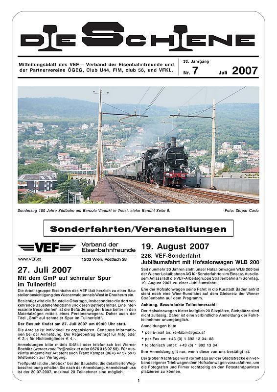 Bucheinband von 'Die Schiene, Band 33/07'