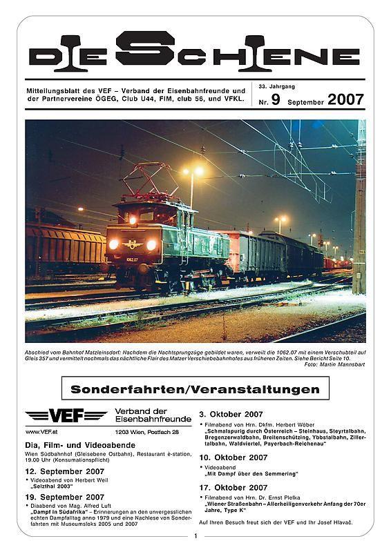 Bucheinband von 'Die Schiene, Band 33/09'