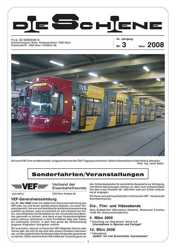 Bucheinband von Die Schiene, Band 34/03