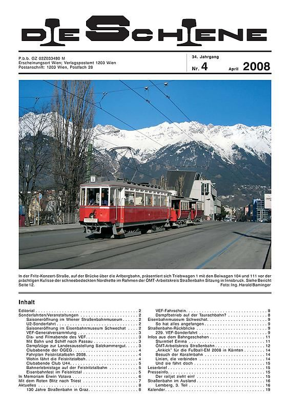 Bucheinband von Die Schiene, Band 34/04