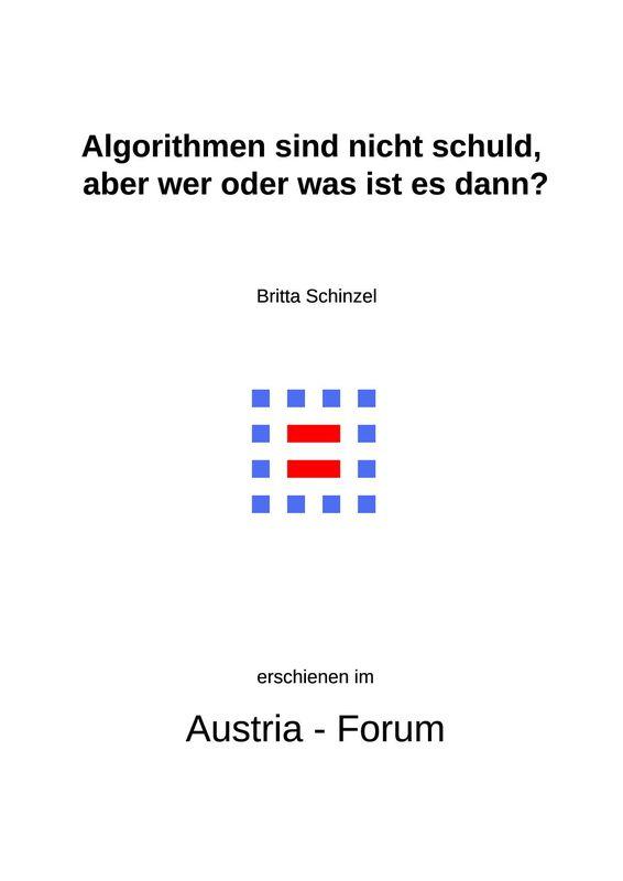 Bucheinband von 'Algorithmen sind nicht schuld, aber wer oder was ist es dann?'