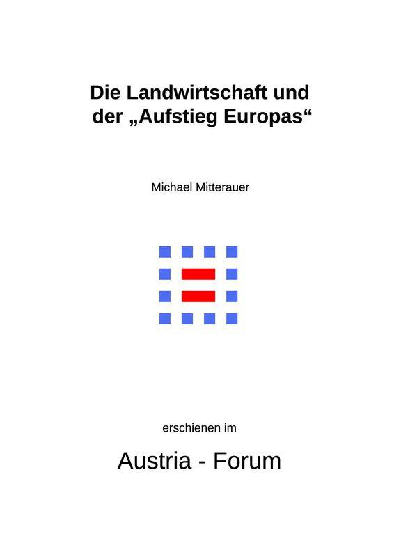 """Bucheinband von 'Die Landwirtschaft und der """"Aufstieg Europas"""" - Jared Diamonds Thesen als Forschungsimpuls'"""
