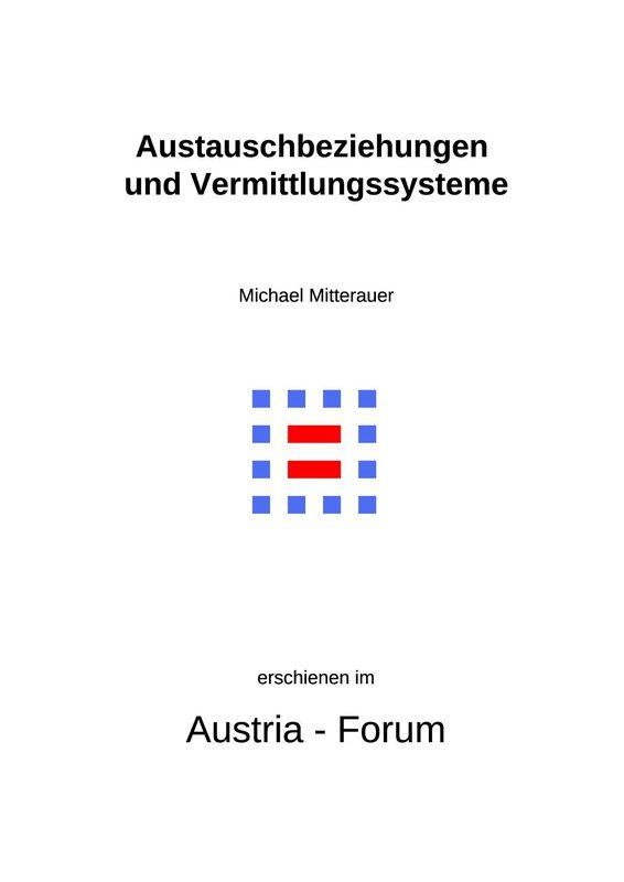Bucheinband von 'Austauschbeziehungen und Vermittlungssysteme - Aktualitätsbezogene Wissenschaft in urbanem Umfeld'
