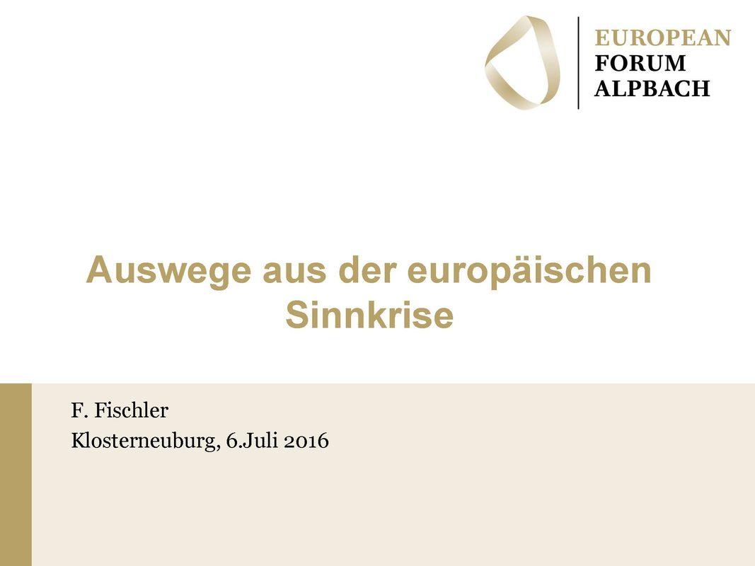 Bucheinband von 'Auswege aus der europäischen Sinnkrise'