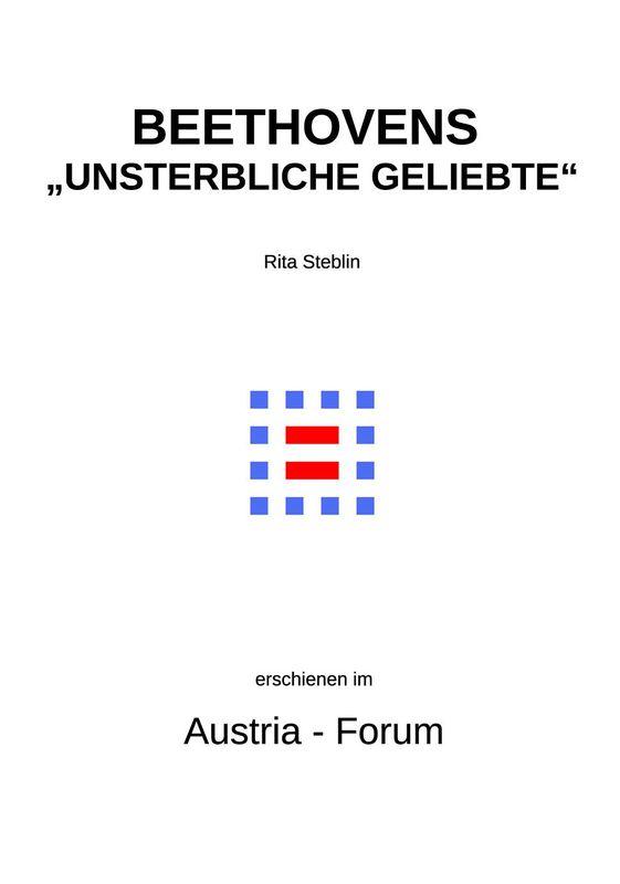 """Bucheinband von 'Beethovens """"Unsterbliche Geliebte"""" - Des Rätsels Lösung'"""