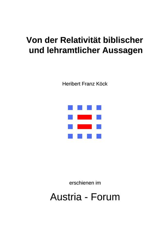 Bucheinband von 'Gedanken zu Glaube und Zeit - Von der Relativität biblischer und lehramtlicher Aussagen, Band 179'