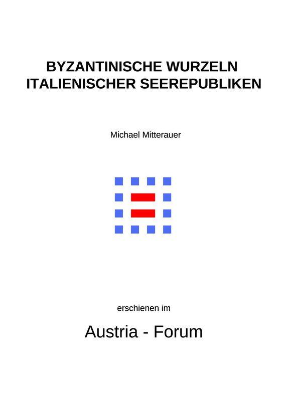 Bucheinband von 'Byzantinische Wurzeln italienischer Seerepubliken'