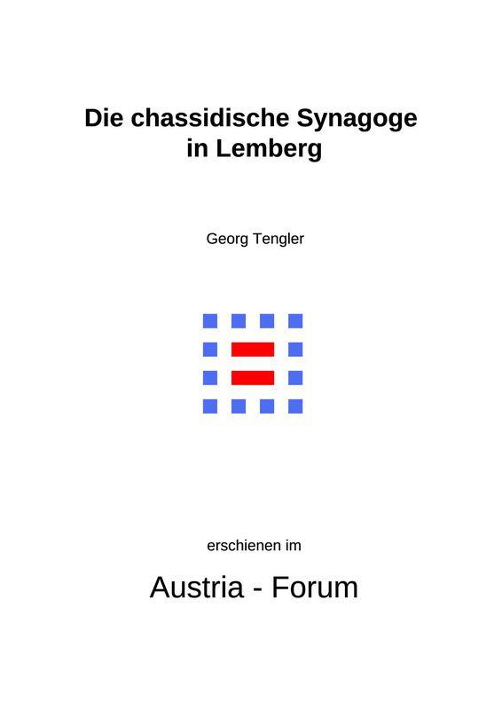 Bucheinband von 'Die chassidische Synagoge in Lemberg'