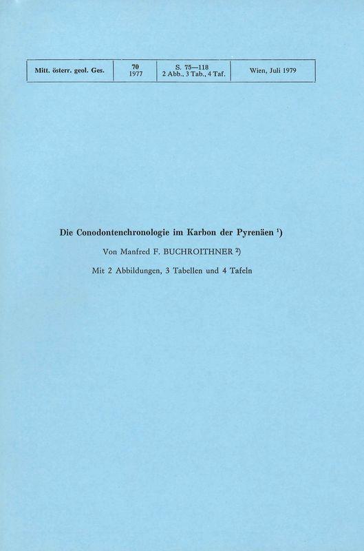 Bucheinband von 'Die Conodontenchronologie im Karbon der Pyrenäen'