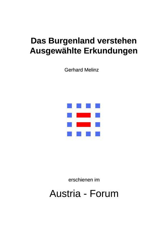 Bucheinband von 'Das Burgenland verstehen - Ausgewählte Erkundungen'