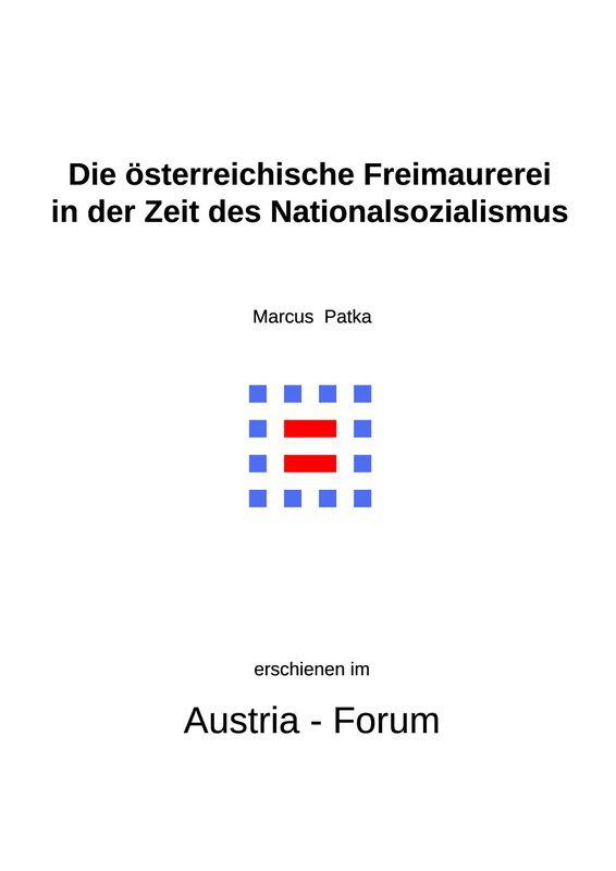 Bucheinband von 'Die österreichische Freimaurerei in der Zeit des Nationalsozialismus'