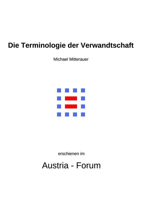 Bucheinband von 'Die Terminologie der Verwandtschaft - Zu mitteralterlichen Grundlagen von Wandel und Beharrung im europäischen Vergleich'