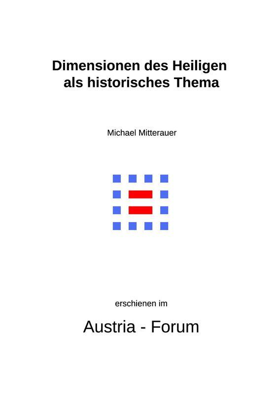 Bucheinband von 'Dimensionen des Heiligen als historisches Thema'