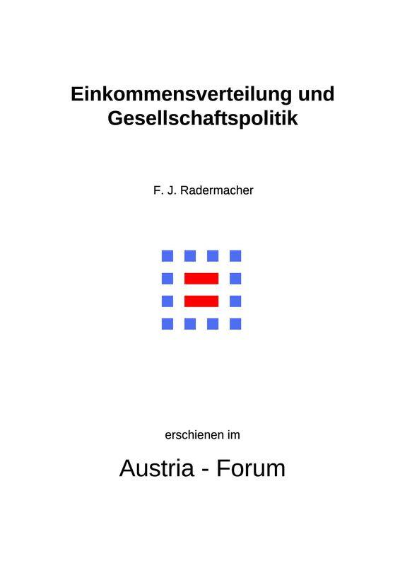 Cover of the book 'Einkommensverteilung und Gesellschaftspolitik - Relevanz für die soziale Seite der Nachhaltigkeit'