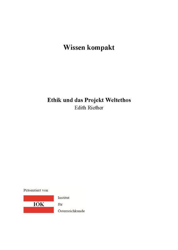 Bucheinband von 'Wissen kompakt - Ethik und das Projekt Weltethos'