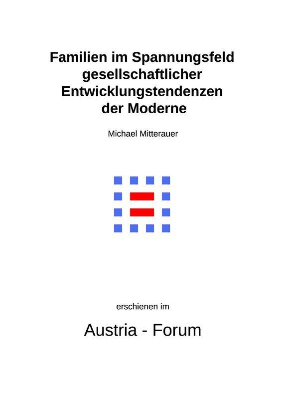 Bucheinband von 'Familien im Spannungsfeld gesellschaftlicher Entwicklungstendenzen der Moderne'