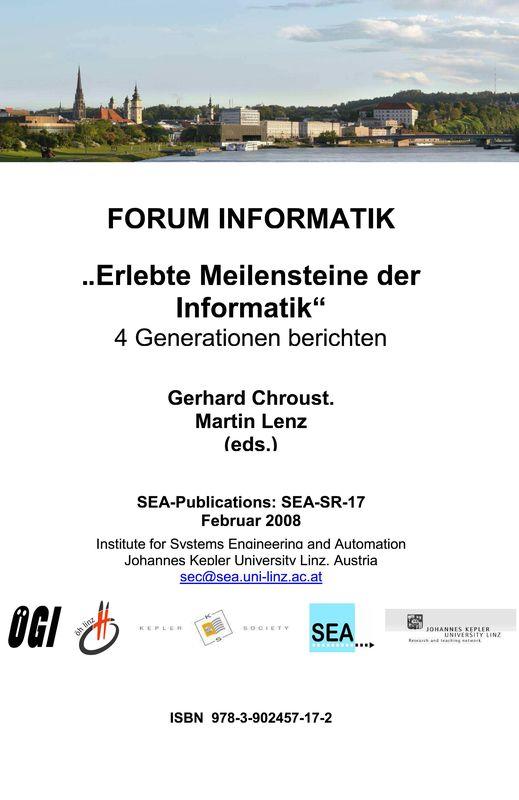 Bucheinband von 'Forum Informatik - Erlebte Meilensteine der Informatik'
