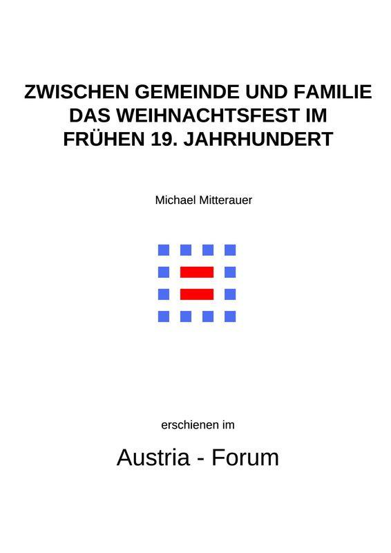 Bucheinband von 'Zwischen Gemeinde und Familie - Das Weihnachtsfest im frühen 19. Jahrhundert'