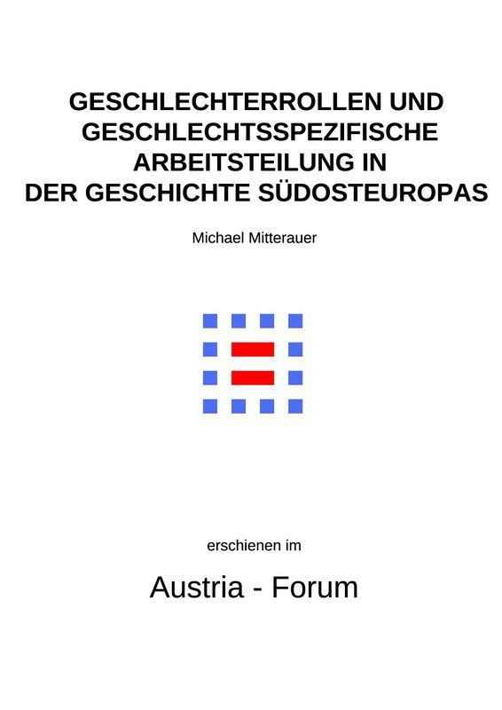 Bucheinband von 'Geschlechterrollen und geschlechtspezifische Arbeitsteilung in der Geschichte Südosteuropas'