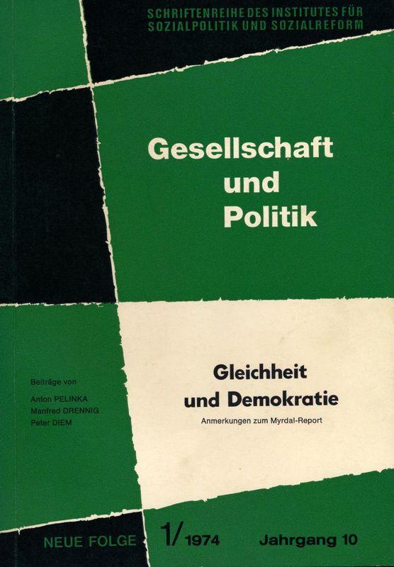 Cover of the book 'Gleichheit und Demokratie'