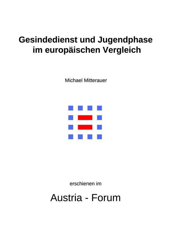 Bucheinband von 'Gesindedienst und Jugendphase im europäischen Vergleich'