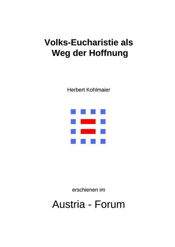 Bucheinband von 'Gedanken zu Glaube und Zeit - Volks-Eucharistie als Weg der Hoffnung, Band 122'