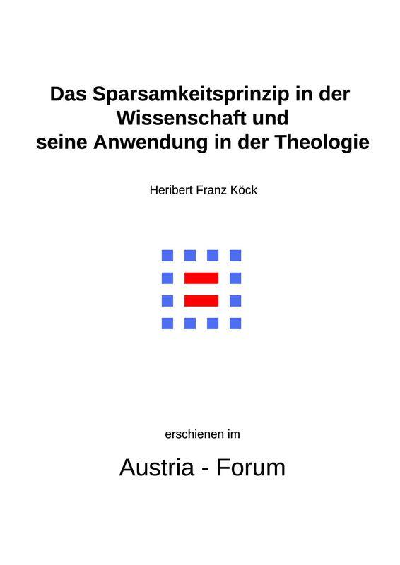 Bucheinband von 'Gedanken zu Glaube und Zeit - Das Sparsamkeitsprinzip in der Wissenschaft und seine Anwendung in der Theologie, Band 254'