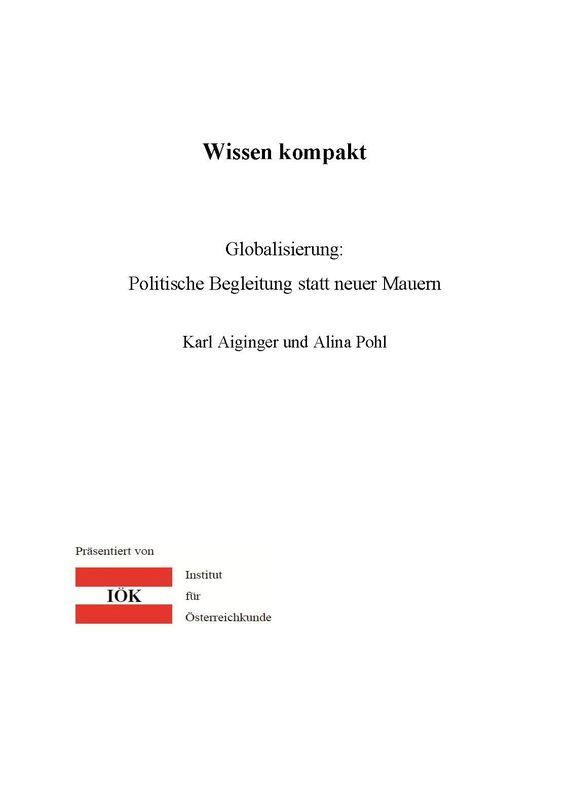 Bucheinband von 'Wissen kompakt - Globalisierung: Politische Begleitung statt neuer Mauern'