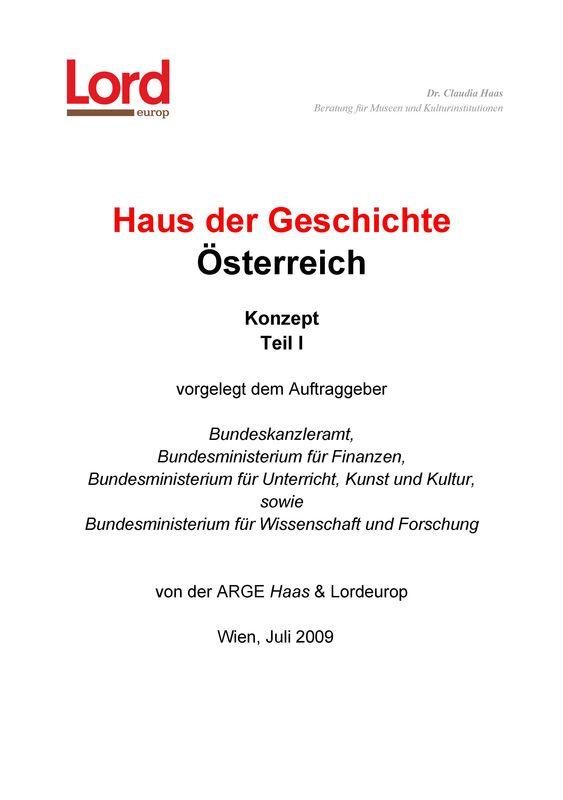 Cover of the book 'Haus der Geschichte Österreich, Volume 1'