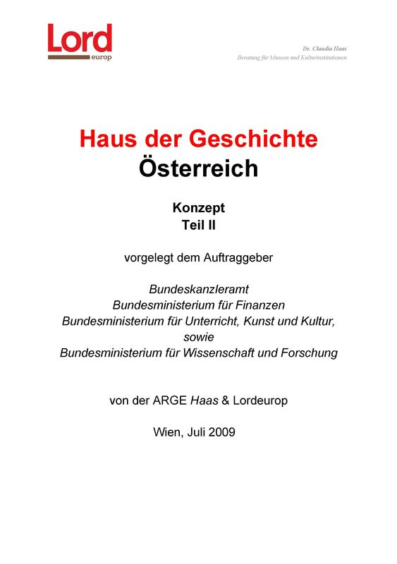 Bucheinband von 'Haus der Geschichte Österreich, Band 2'