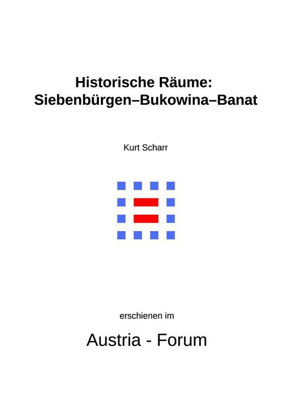 Bucheinband von 'Historische Räume: Siebenbürgen-Bukowina-Banat'