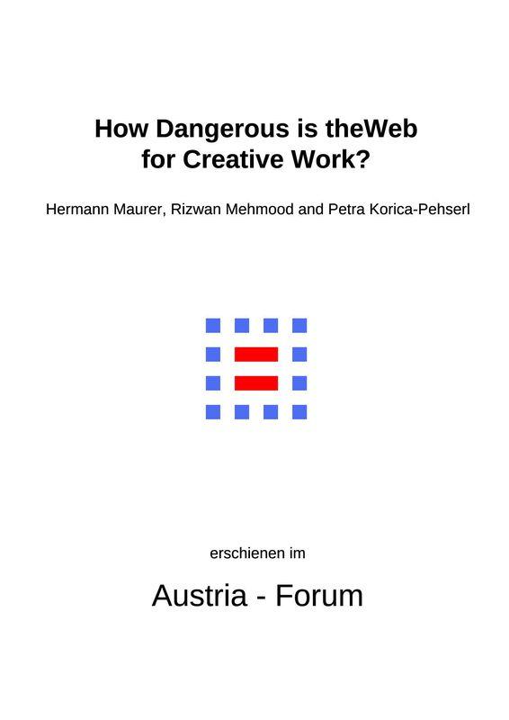 Bucheinband von 'How Dangerous is the Web for Creative Work?'