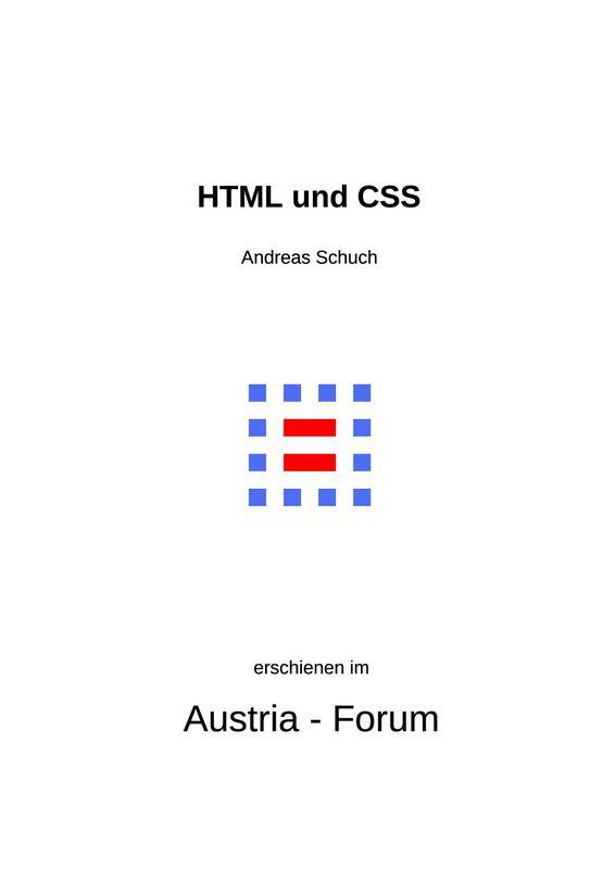 Bucheinband von 'HTML und CSS'