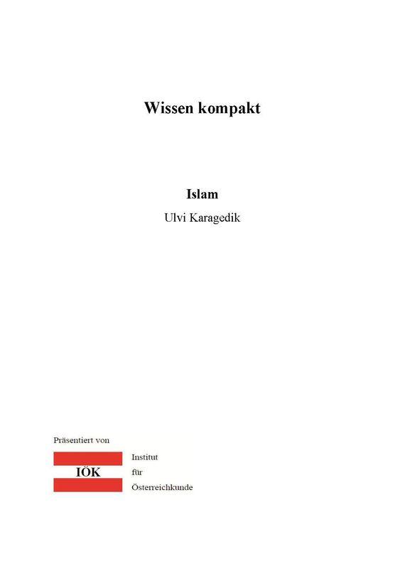 Bucheinband von 'Wissen kompakt - Islam'