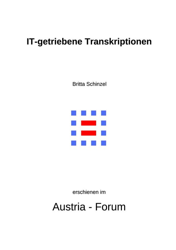 Bucheinband von 'IT-getriebene Transkriptionen - IT-driven Transcriptions'