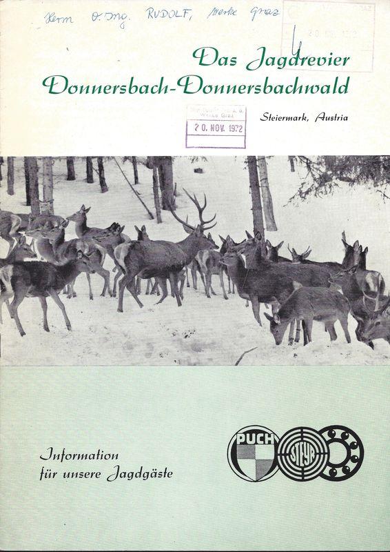 Bucheinband von 'Das Jagdrevier - Donnersbach- Donnersbachwald'