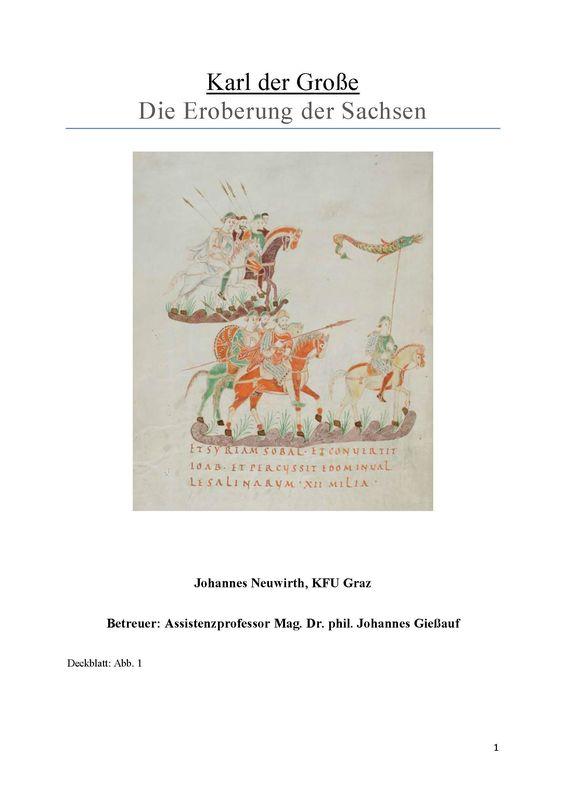 Bucheinband von 'Karl der Große - Die Eroberung der Sachsen'