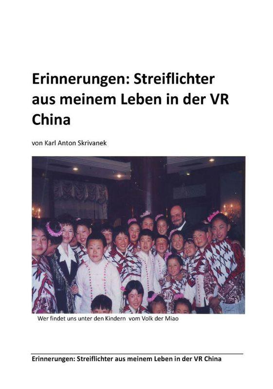 Bucheinband von 'Erinnerungen - Streiflichter aus meinem Leben in der VR China'
