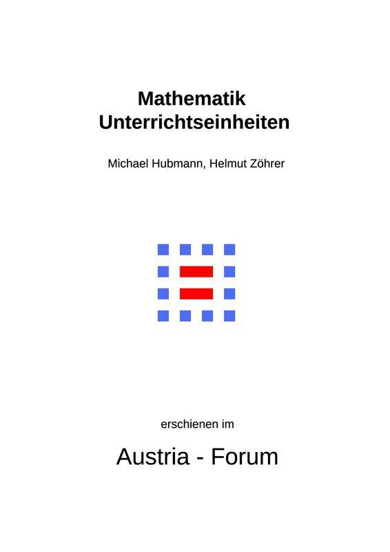 Bucheinband von 'Mathematik Unterrichtseinheiten'