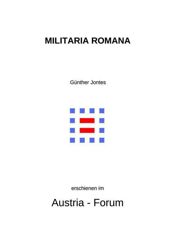 Bucheinband von 'MILITARIA ROMANA - Glossar zur Organisation, Bewaffnung, Ausrüstung der römischen Armee und Kriegsmarine'