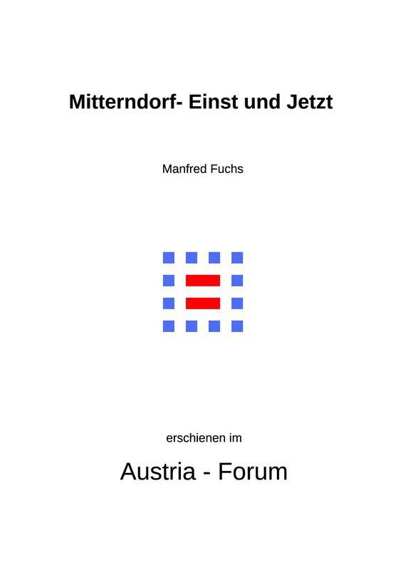 Bucheinband von 'Mitterndorf - Einst und Jetzt'