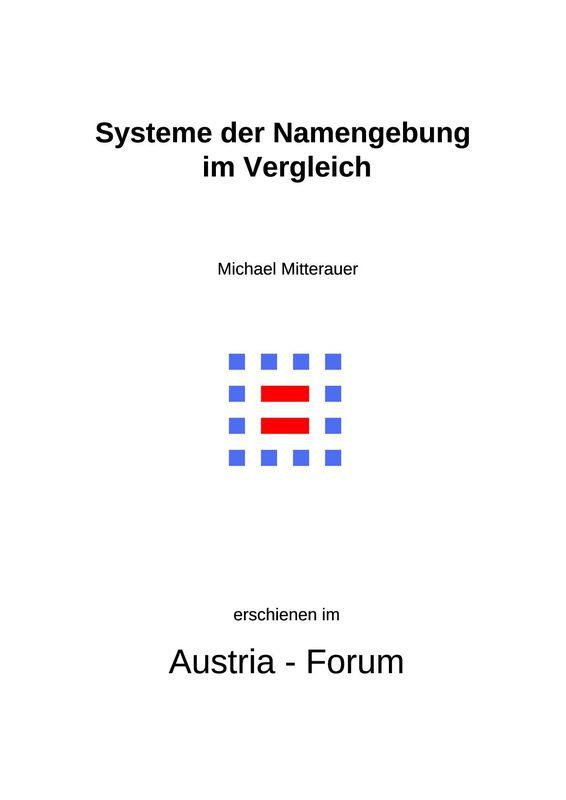 Bucheinband von 'Systeme der Namengebung im Vergleich'