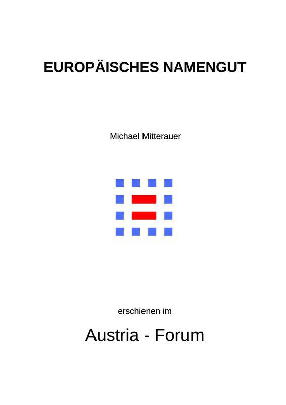 Cover of the book 'Europäisches Namengut - Historische Kontinuitäten und aktuelle Trends'