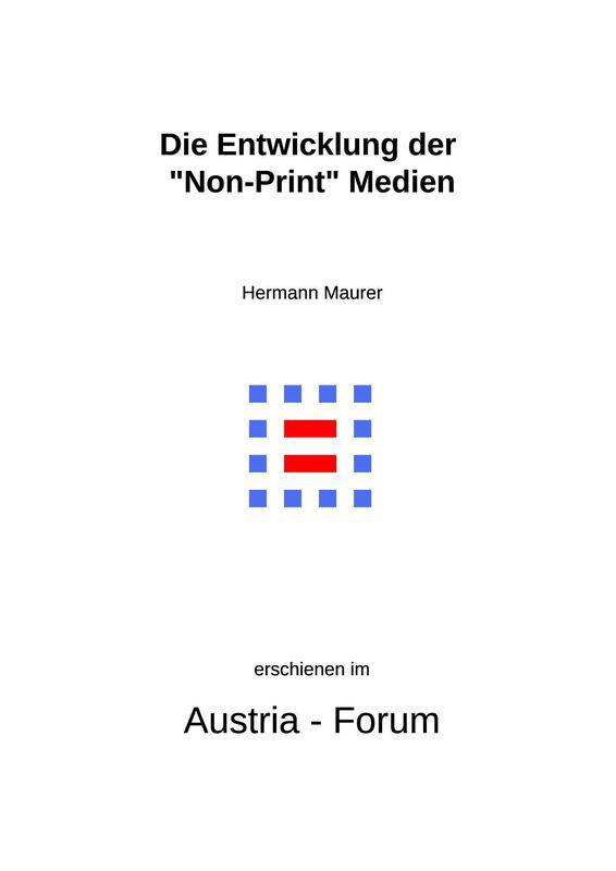 """Bucheinband von 'Die Entwicklung der """"Non-Print"""" Medien - 1945 - 1995'"""
