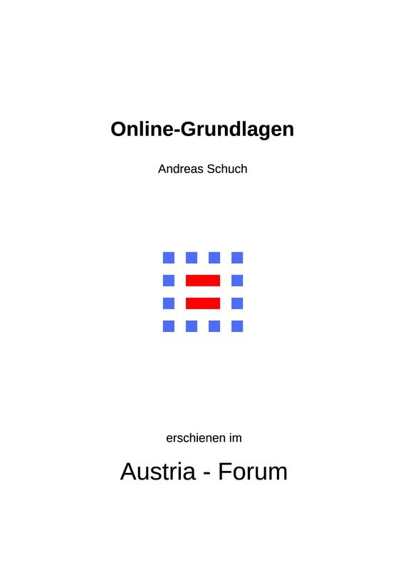 Cover of the book 'Online-Grundlagen'