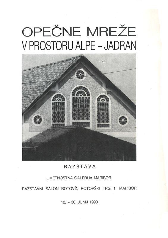 Bucheinband von 'OPEČNE MREŽE - V PROSTORU ALPE - JADRAN'