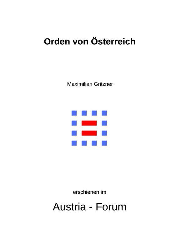 Bucheinband von 'Orden von Österreich'