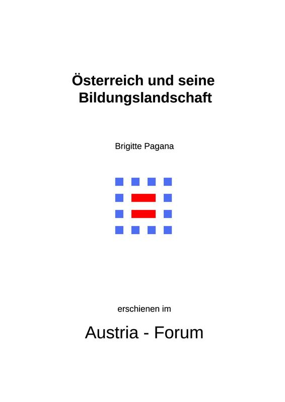 Bucheinband von 'Österreich und seine Bildungslandschaft'