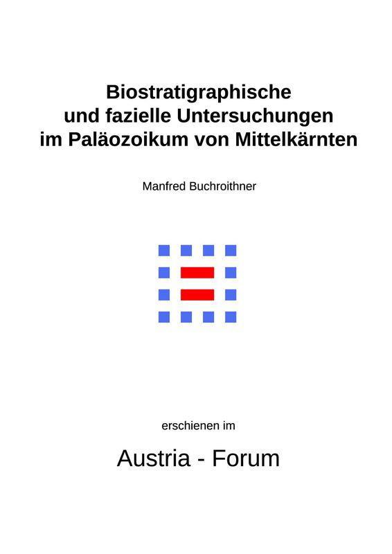 Bucheinband von 'Biostratigraphische und fazielle Untersuchungen im Paläozoikum von Mittelkärnten'