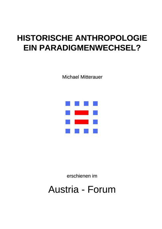 Bucheinband von 'Historische Anthropologie - Ein Paradigmenwechsel?'
